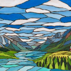 Wood Burn Acrylic Painting of The Prince of Wales in Waterton by Brian Sloan