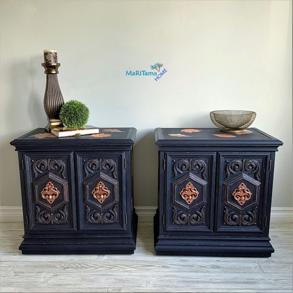 Refinished Night side table set