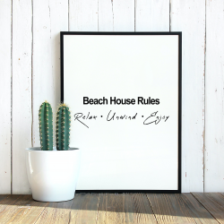 Beach House Rules (Bold)