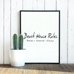 beachhouse rules Italics