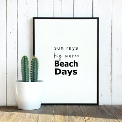 sun rays, big waves, beach days wall art